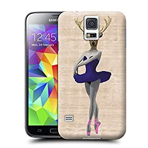 Unique Phone Case Ballet Deer Blue Hard Cover for samsung galaxy s5 cases-buythecase