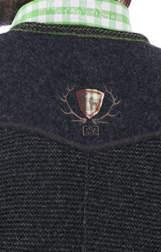 German knitted waistcoat Ramsau SW darkgrey-grass by Spieth & Wensky (Image #2)