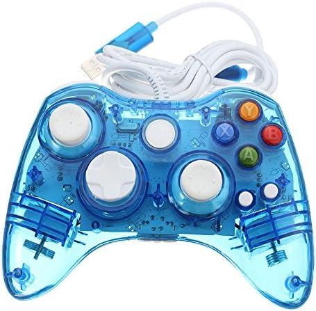Wired USB Controller Gamepad Compatible for Microsoft Xbox 360 Console PC Computer Video Game Color Azul: Amazon.es: Videojuegos
