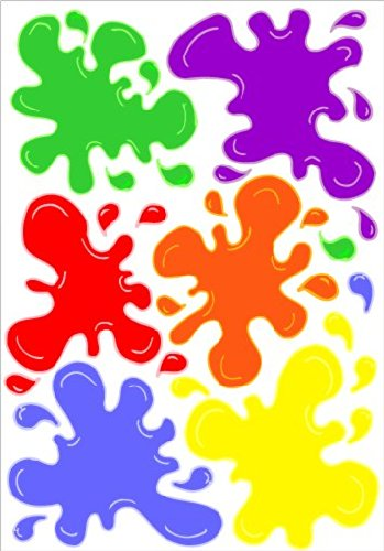 Multicolored Paint Splat Wall Decals / Paintball Wall Stickers Decals ()