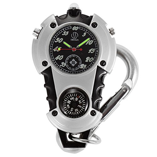 SIBOSUN Watch Company Mini Clip Microlight Nite Glow Luminous Clip on Pocket Watch Black by SIBOSUN (Image #7)