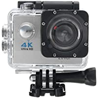Rambly Waterproof 4K Wifi HD 1080P Ultra Sports Action Camera DVR Cam Camcorder (Silver)