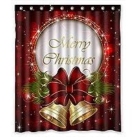 Cortina de ducha de moda personalizada de Feliz Navidad 60 pulgadas por 72 pulgadas