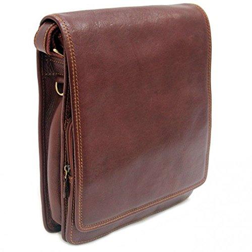 bandolera Charmoni En De Bolso De vaqueta marrón Helin con cuero nueve maletín EE7Bwq