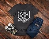 Baseball Tshirt - I Like A Little Dirt on my Diamonds