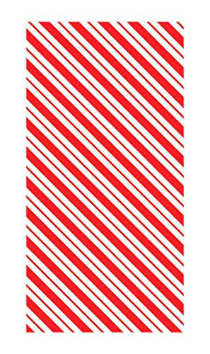 Amscan 12 Count Candy Cane Treat Sack, 10