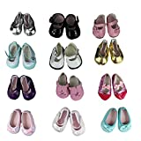 Clothing Accessories Best Deals - Barwa 5 Pairs Shoes Fits 18 Inch American Girl Dolls Xmas Gift
