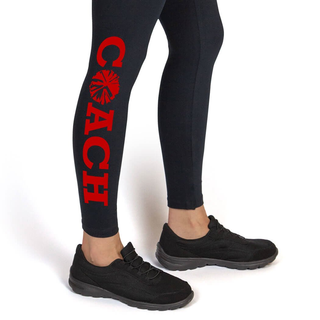 Coach Leggings | Cheerleading Leggings by ChalkTalk SPORTS | Multiple Colors | Youth To Adult Sizes ch-00910