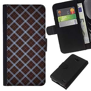 All Phone Most Case / Oferta Especial Cáscara Funda de cuero Monedero Cubierta de proteccion Caso / Wallet Case for LG OPTIMUS L90 // Wallpaper Pattern Random Design Stripes
