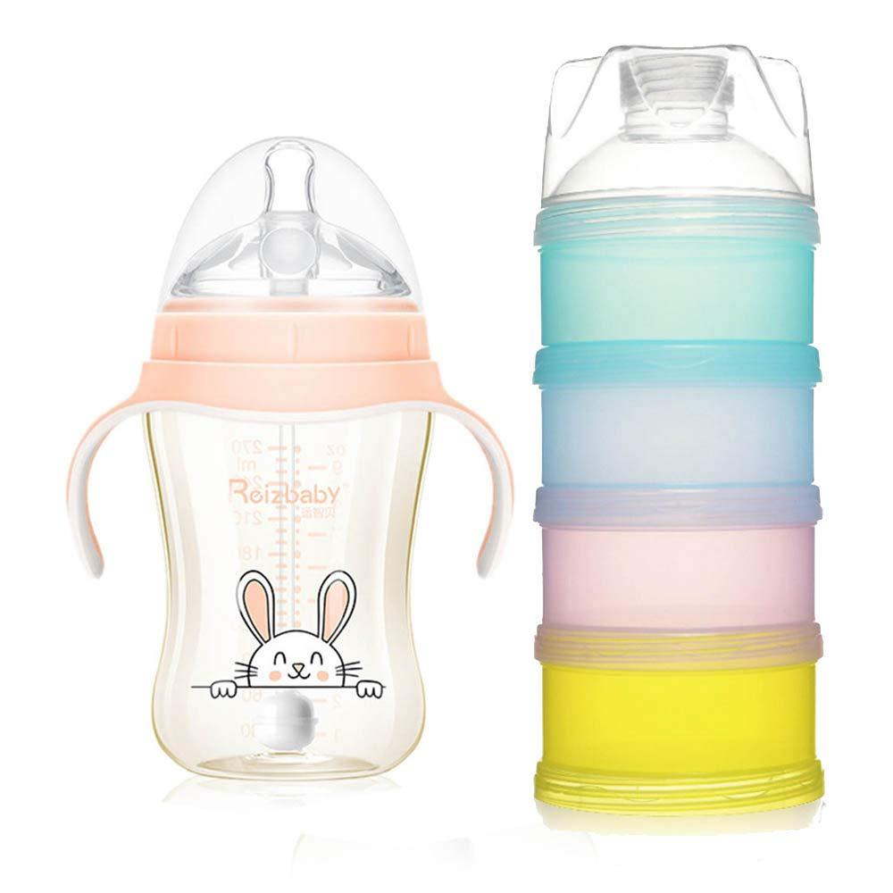 人気ブランドの AOLVO 赤ちゃん用哺乳瓶 重力ボールストロー&ハンドル付き Pink+ Dispenser 新生児 乳児 母乳瓶 ワイドキャリバー 漏れ防止 母乳瓶 授乳 ミルク 水飲み サックル フィーダー 6490651435780 270 Ml Pink+ Milk Dispenser B07MC7C8PS, 広野町:a2801fc1 --- a0267596.xsph.ru
