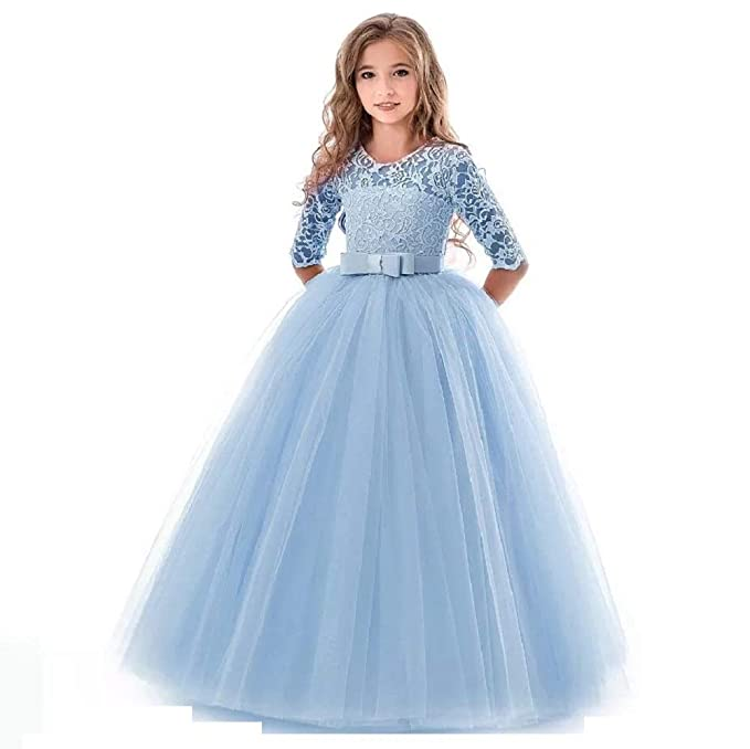 8ad7c30eebc8 THE LONDON STORE Baby Girl s Teenage Dress for Girls Solid Long ...