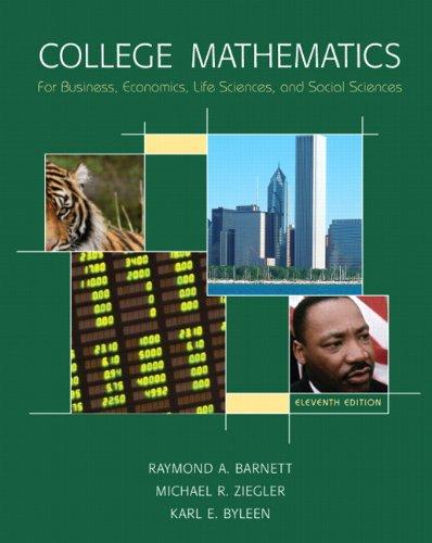 College Mathematics for Business, Economics, Life Sciences & Social Sciences Value Package (includes MyMathLab/MySta