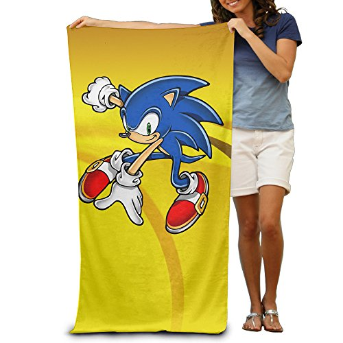 ^GinaR^ 300g Sonic The Hedgehog Lightweight Microfibre Towel