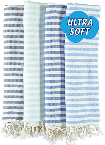 LOOMANGO (Set of 4) Marine Collection Premium Quality Ultra Soft 100% Cotton 70