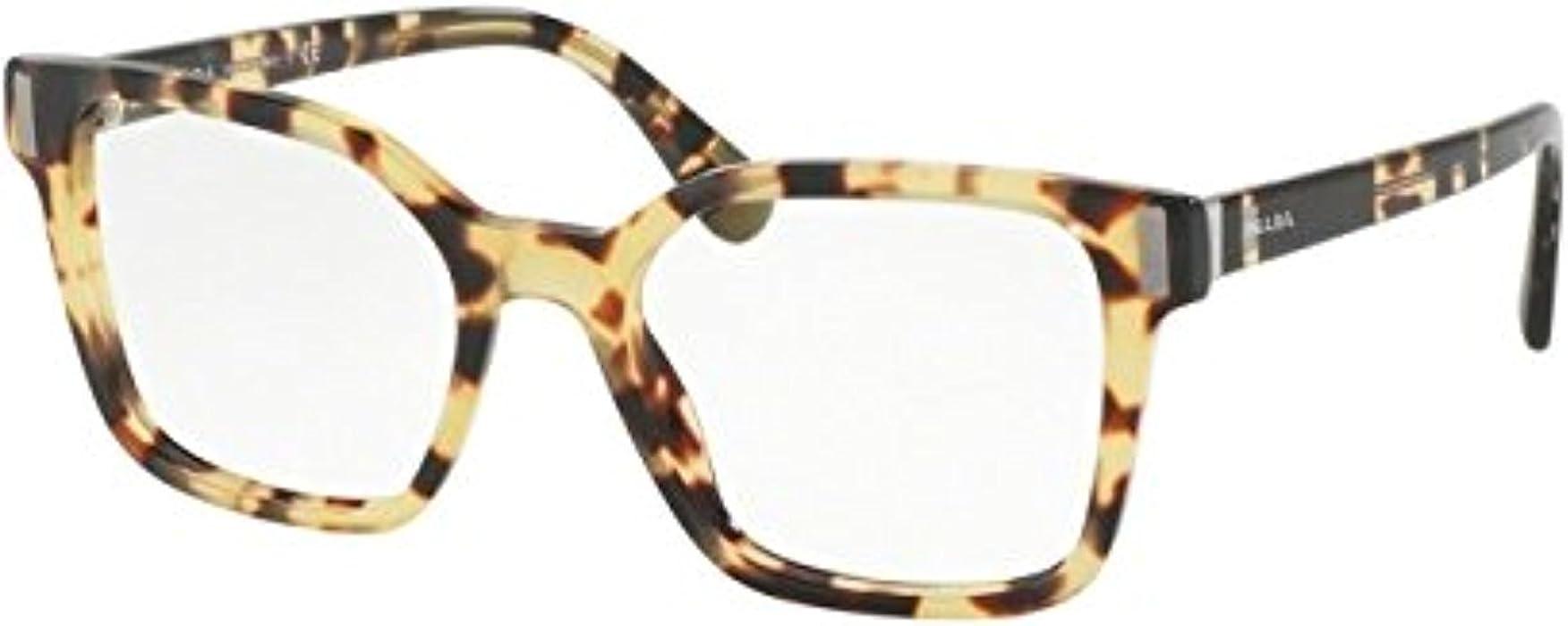 8ecde9ee028 Prada PR05TVF Eyeglass Frames 7S01O1-52 - Medium Havana PR05TVF-7S01O1-52