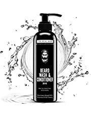 THE REAL MAN All New Beard Wash & Conditioner(200ML). 100% Natural & Organic beard shampoo - Cleans and Conditions with Extracts of Aloe Vera | Tulsi | Neem Leaf | Licorice.