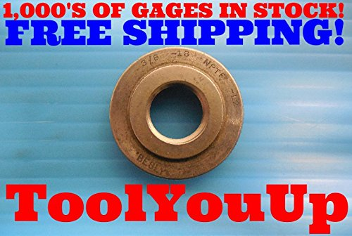 3/8 - 18 NPTF L2 PIPE THREAD RING GAGE L-2 .375 N.P.T.F. QUALITY INSPECTION