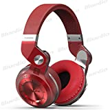 Bluedio T2 Plus Turbine 195° Rotary Foldable Super Bass Wireless Headset Bluetooth Over-ear Headphones with Mic/Micro SD Card Slot/FM Radio DJ For Iphone Samsung HTC LG Tablet Gift Package (Red)