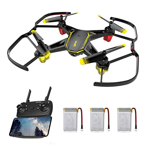 Drone for Kids, FPV Wi-Fi Drone Real-time Video Feed, Great Drone for Beginners, Quadcopter Drone with Altitude Hold, One-Key Take-Off, Landing, Auto Hover, 3D Flips, Speed Adjustment