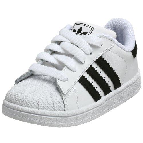 (adidas Originals Superstar 2 Sneaker (Infant/Toddler),Run White/Black/Black,5.5 M US Toddler)