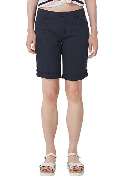 s.Oliver RED LABEL Damen Smart Bermuda: Shorts aus Baumwolle