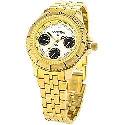 Vostok Amphibian Analog 23858 Quartz Calibre Mechanism Bracelet Band 3atm Water Resistant Men's Wristwatch