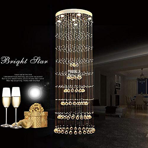 (SHIJING Modern Crystal Chandelier Large LED Lamps Long Big Chandeliers Holders Luxury Villa Hotel Lamps Big Hanging Light,80)