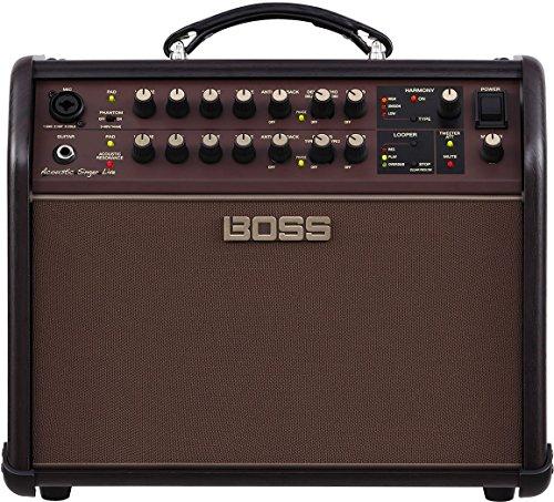 Boss ACS-LIVE Acoustic Singer Live Acoustic Amplifier w/Bonus Strukture Instrument Cable SC186W & RIS Picks (x3) 761294509616 by Rock Island Sound