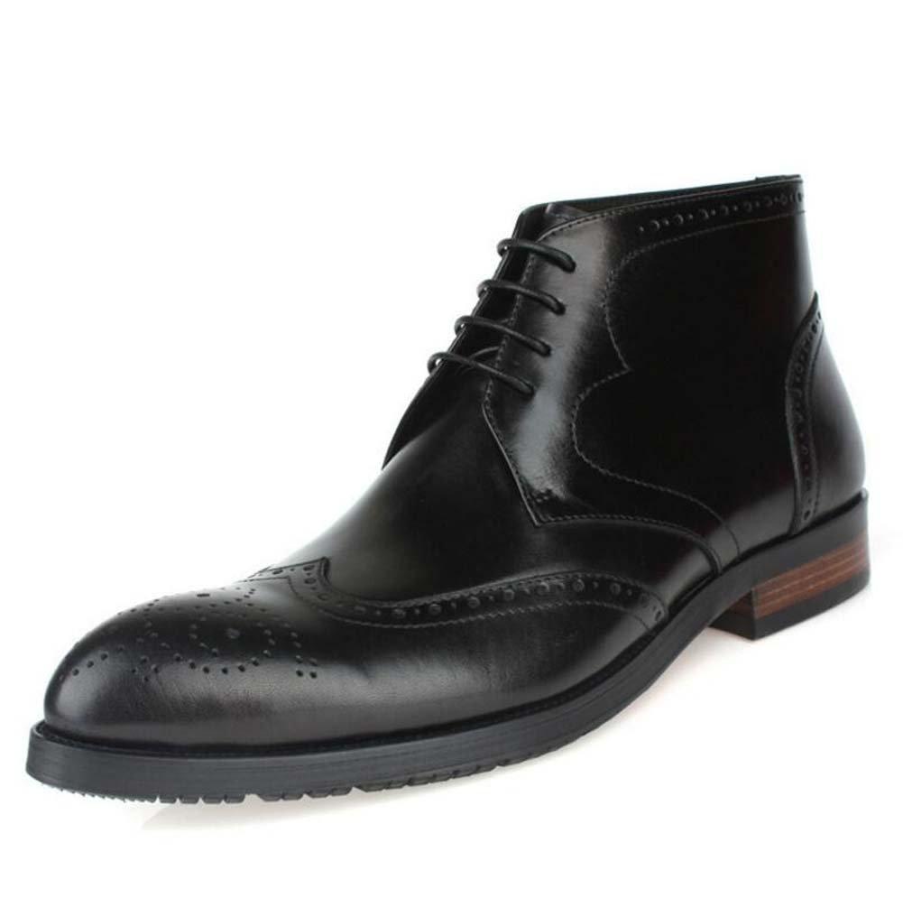 GLSHI Herren High Top Schuhe Britische Wies Geschäft Schuhe High Top Stiefel Lederstiefel