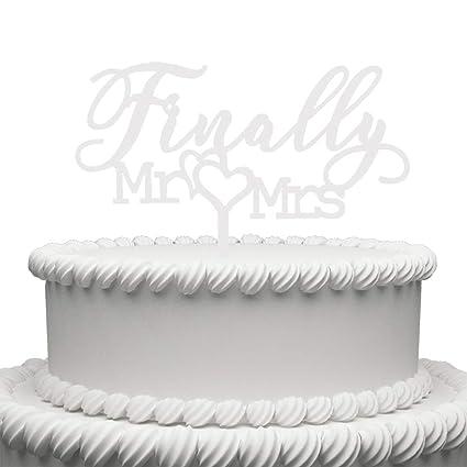 finally mr mrs acrylic cake topper for wedding engagement bridal shower cake decorations white