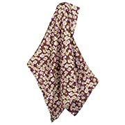 Milkbarn Bamboo and Cotton Baby Swaddle - Purple Floral