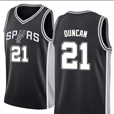 MHDE Spurs De La NBA 21 Duncan Baloncesto Jersey Uniformes Deportes Baloncesto Camisas Cosidas Hombres Traje Corto Chaleco De Entrenamiento: Amazon.es: Ropa y accesorios