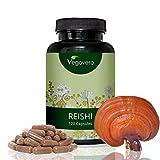 Reishi Extract (Ganodema Lucidum) | 500mg per Capsule, 20% Bioactive Polysaccharides | 120 Capsules, 2-Month Supply | Vegan & Vegetarian by Vegavero
