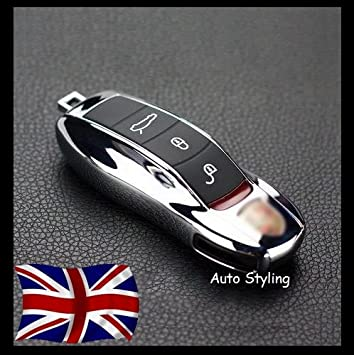 Carcasa para llave de Porsche remoto caso Shell Vivienda Side pintado Trim Boxster Carrera Cayenne Caimán