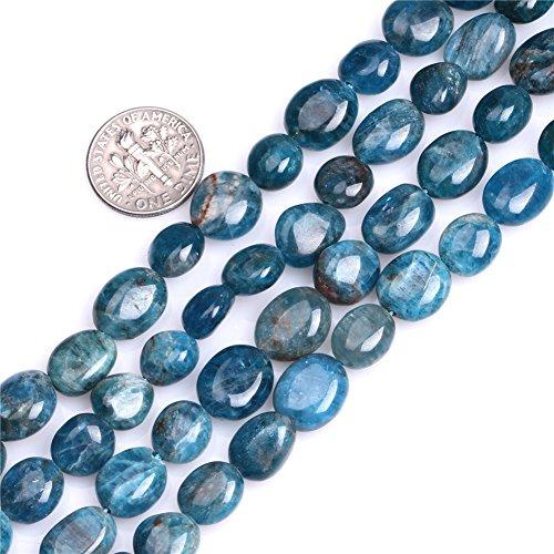 Kyanite Beads for Jewelry Making Natural Gemstone Semi Precious 10x12mm Freeform Baroque Potato 15