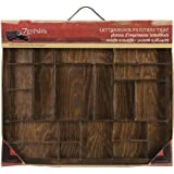 7 Gypsies Artist Letter Block Tray, 12 by 10-Inch, Brown Stain