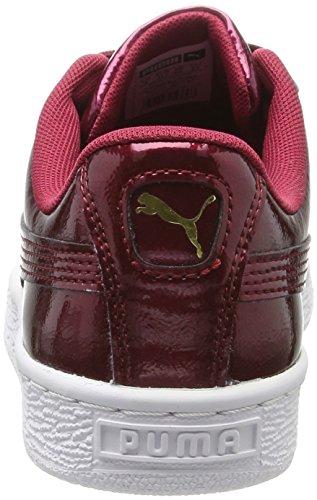 Puma Basket Heart Glam Jr, Zapatillas Unisex Niños Rojo (Tibetan Red-tibetan Red)
