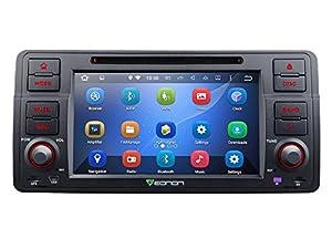 Eonon GA6150 Android 5.1 Car DVD Player for BMW E46 3 Series 1998-2005 Quad Core Lollipop In Dash GPS Radio Stereo 7 Inch 1 DIN Multimedia Bluetooth 4.0 Steering Wheel Control Sub Volume Control