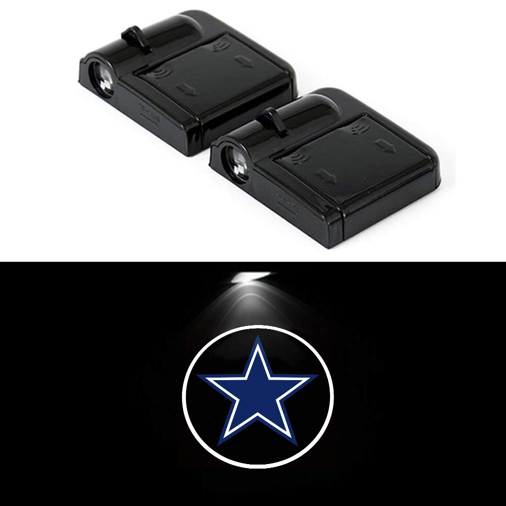 19ec8ce6 PATRICON 2-Pack for Dallas Cowboys Wireless Car Door Led Welcome Light  Projector, No Drill Type Logo Light Ghost Shadow Light Lamp for All Vehicles