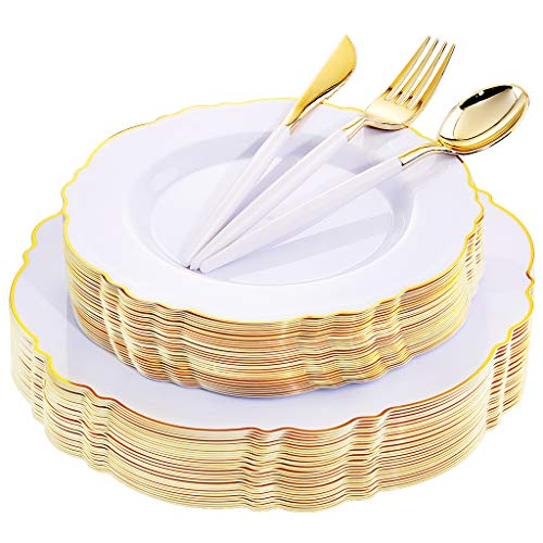 Top 10 recommendation disposable plates for wedding gold trim 2020