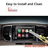 #6: LFOTPP 2017-2018 Kia Sportage UVO 7 Inch Car Navigation Screen Protector, [9H] Tempered Glass Infotainment Center Touch Screen Protector Anti Scratch High Clarity