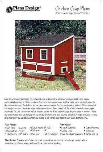4'x6' Chicken Coop / Hen House Plans, Lean-to Roof Style (How to build a chicken coop, design # 90406L) pdf epub