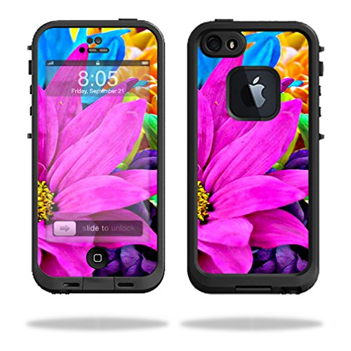 Mightyskins Protective Vinyl Skin Decal Cover for LifeProof iPhone 5/5s/SE Case fre Case wrap sticker skins Colorful Flowers