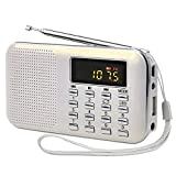 White Portable Rechargeable Electronic Audio Bible Blayer Daily Meditation 8G NIV Version