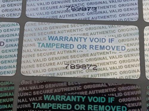 500 Serial Number Security Hologram Tamper Evident Warranty