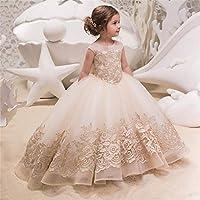 6de768376674 morbido Vestito da ragazza di fiore per bambini femminile Spettacolo ...
