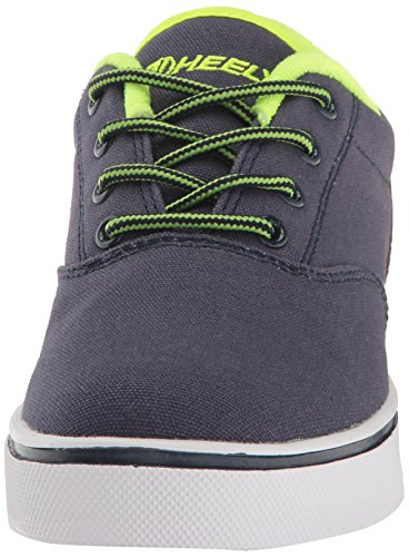 Heelys Launch Skate Shoe (peuter / Little Kid / Big Kid) Marine / Fel Geel