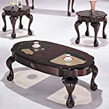 ACME 08195 3-Piece Canterbury Coffee/End Table Set, Cherry Finish