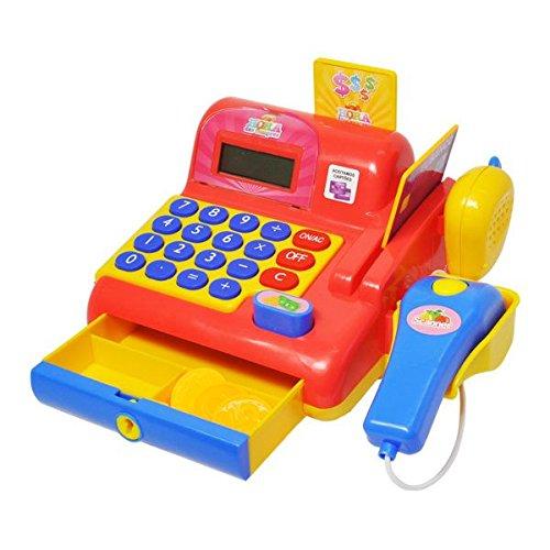Caixa Registradora Vermelho Calculadora Infantil Brinquedo (DMT5112)