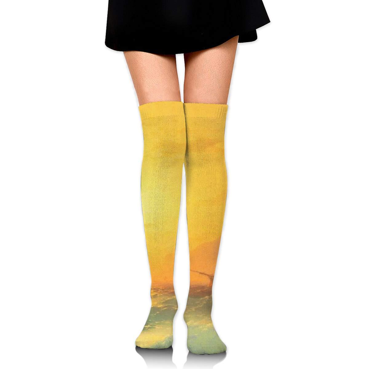 Women Crew Socks Thigh High Knee Ancient Ship Long Tube Dress Legging Soccer Compression Stocking